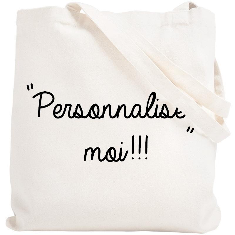 Tote bag personnalisé - Sac personnalisé - Tote bag personnalisable - BLanc - Angora