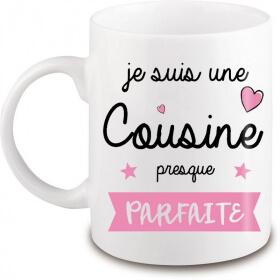Mug cousine - Idée cadeau Cousine - angora - Em création