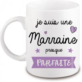 Mug Marraine - Idée cadeau marraine - angora - Em création