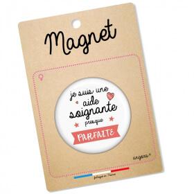 Magnet aide soignante - idée cadeau - angora - Em création
