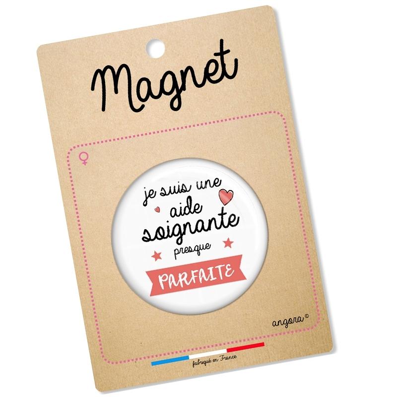 Magnet aide soignante - idée cadeau - angora