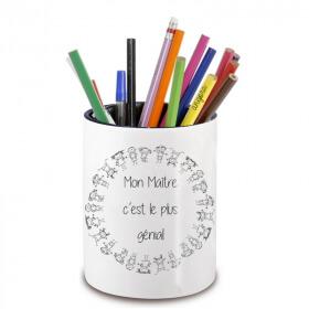 Pot à crayon maitre d'école - cadeau original maitre d'école - Cadeau école fin d'année scolaire - angor - Em création