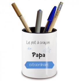 Pot à crayon Papa -Idée cadeau originale pour Papa - angora - Em création