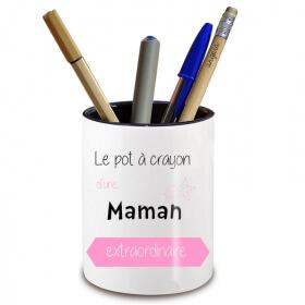 Pot à crayon Maman - Angora - Em création