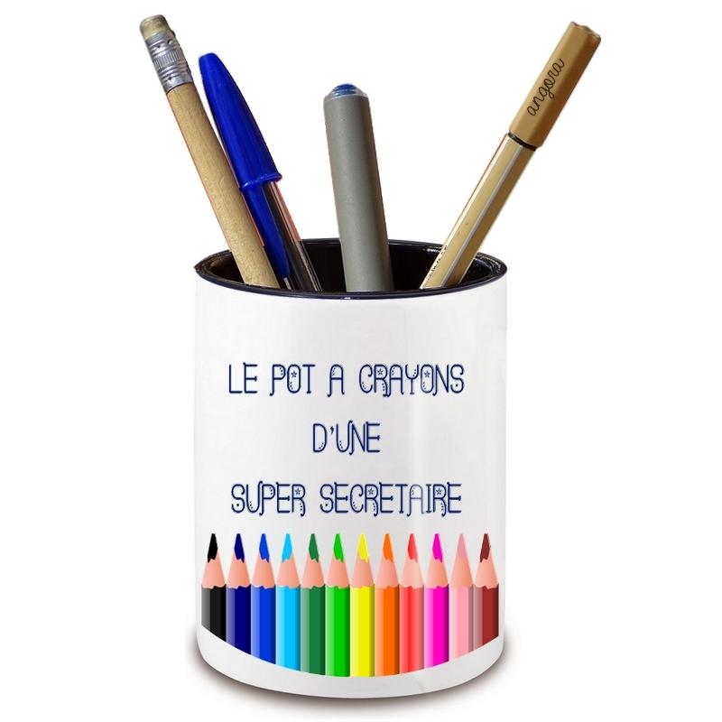 Pot à crayon secrétaire - Idée cadeau secrétaire - angora