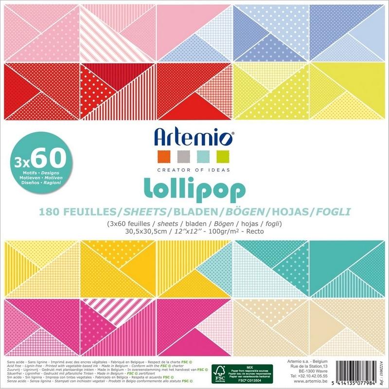 Bloc 180 feuille Lollipop - Scrapbooking - Loisirs créatifs