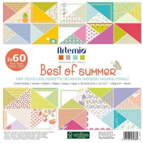 Block papier Summer x180 feuilles décoratives - Em création