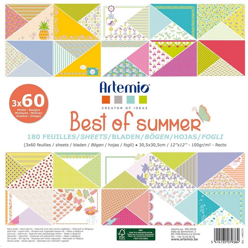 Block papier Summer x180 feuilles décoratives
