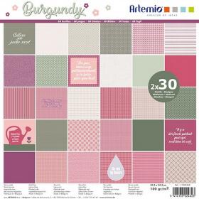 Papier Scrapbooking - Burgundy - Loisirs créatifs - Em création