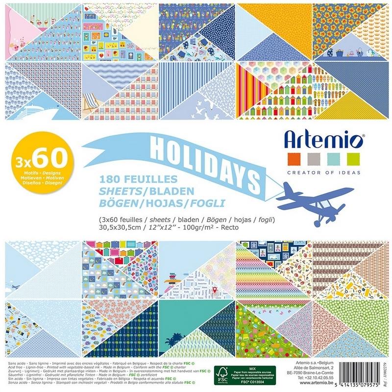 Bloc 180 feuille Lollipop - Holidays - Loisirs créatifs