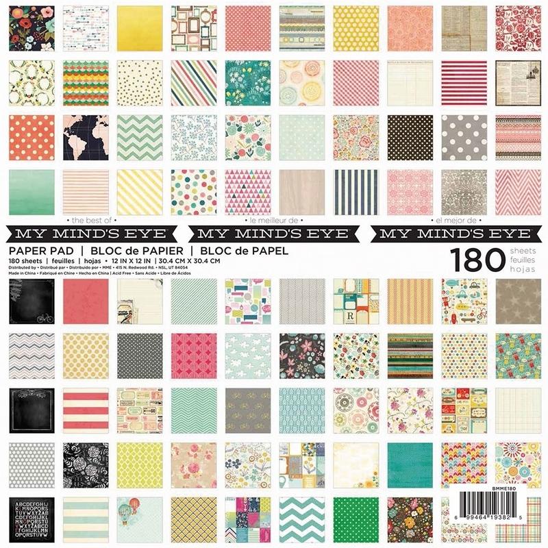 Papier décoratif scrapbooking x180