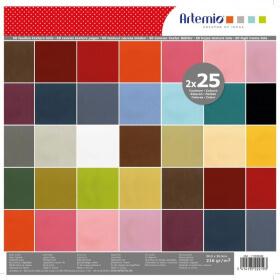 Feuille décorative x 50 - Papier Scrapbooking - Em création