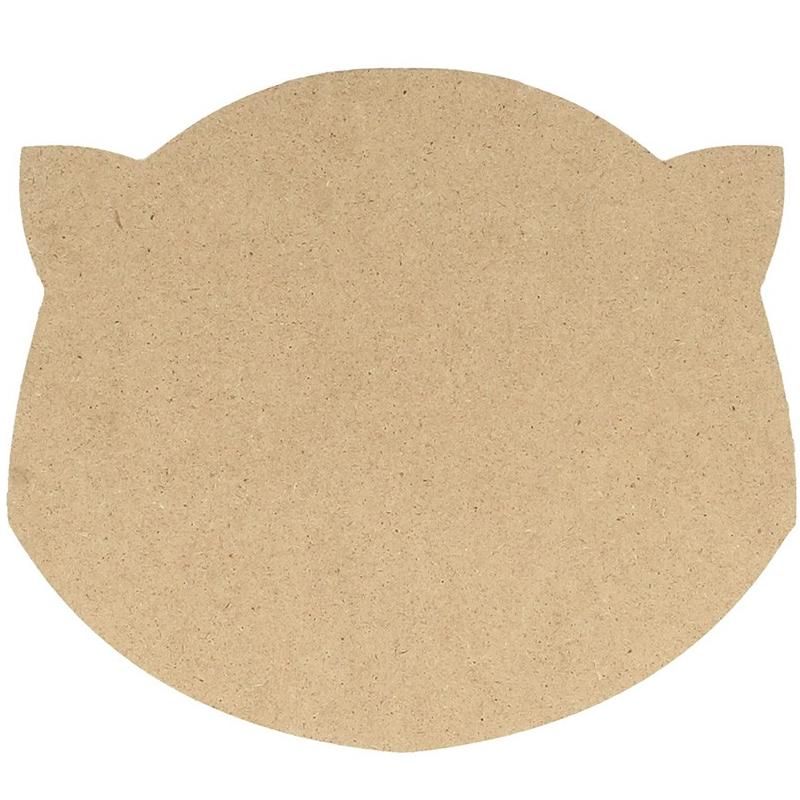 Silhouette tête de chat - Artemio - Support en bois à peindre