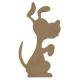 Silhouette chien à décorer