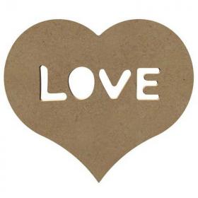 Coeur Love en bois à décorer - Gomille - Em création