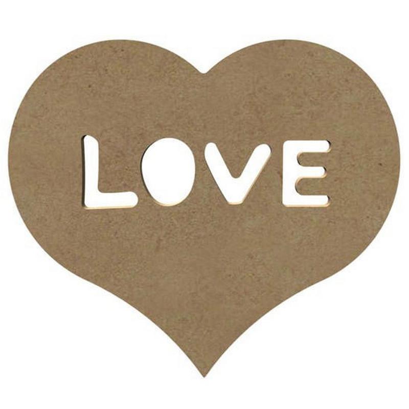 Coeur Love en bois à décorer - Gomille