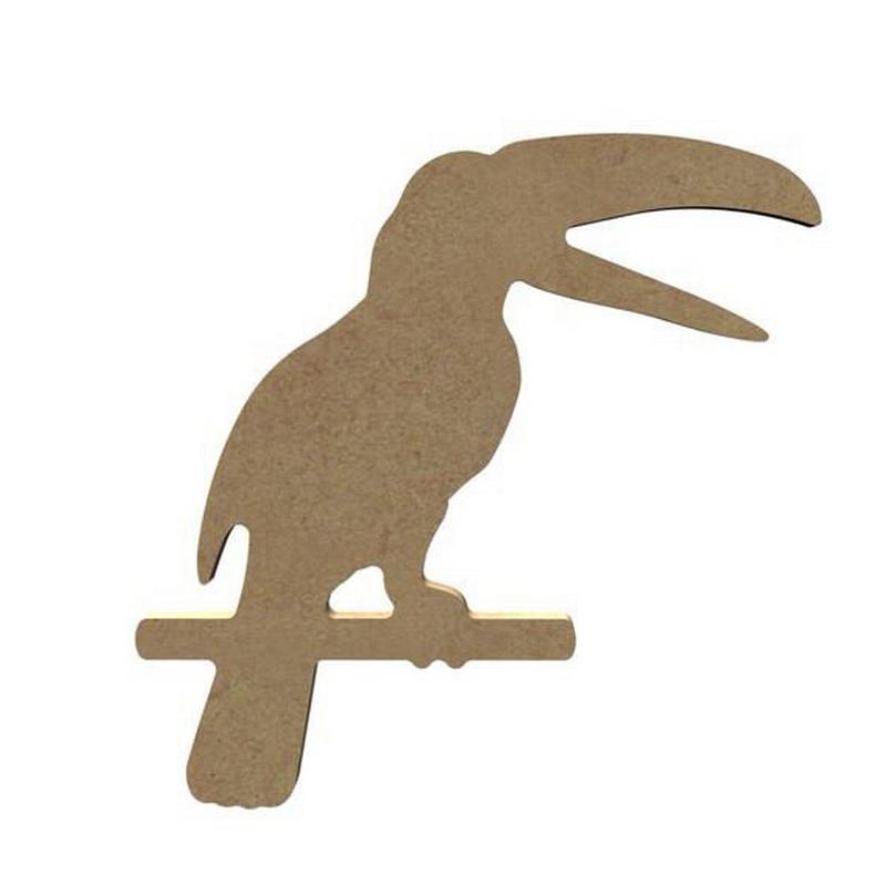 Toucan en bois à décorer - Gomille