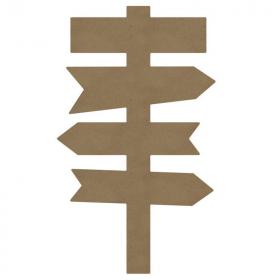 Panneau directionnel à décorer - Gomille - Em création