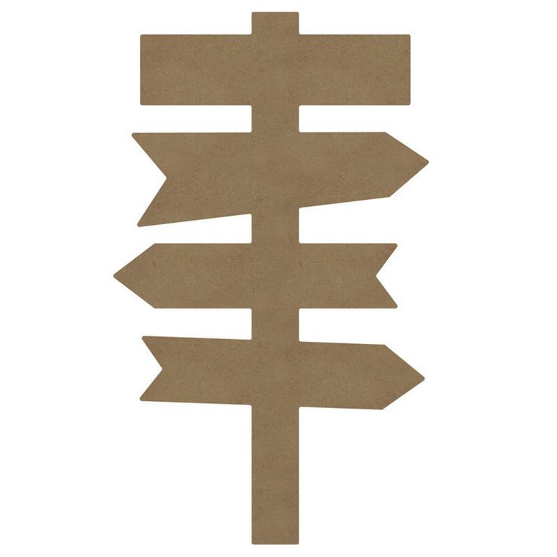 Panneau directionnel à décorer - Gomille