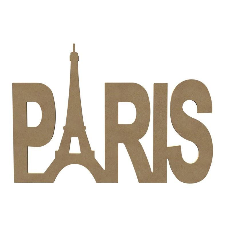 Paris en bois à décorer - Gomille