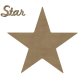 Etoile et Star en bois à décorer