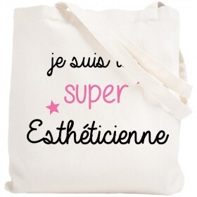 Tote bag esthéticienne - Idée cadeau - Sac toile - Em création
