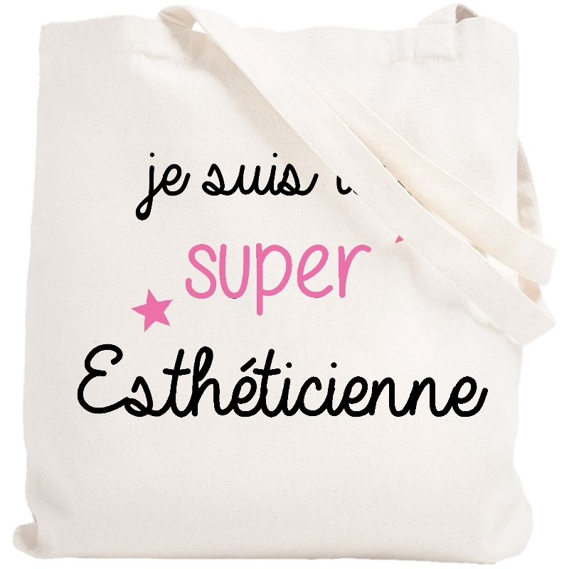 Tote bag esthéticienne - Idée cadeau - Sac toile