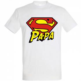 Tee shirt Super Papa - Idée cadeau Papa - Cadeau fête des pères - Em création