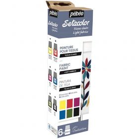 Set initiation Setacolor tissus clairs mat 6 x 20 ml-2 pébéo - Em création