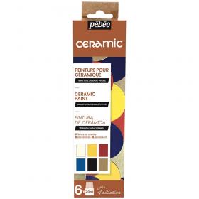 Peinture pour céramique - 6x20ml - pébéo - Em création