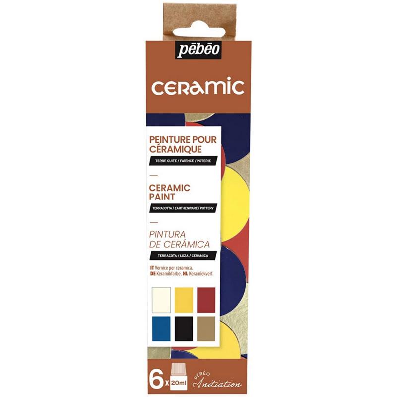 Peinture pour céramique - 6x20ml - pébéo