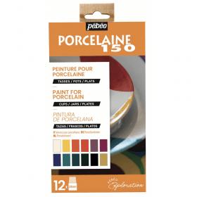 Peinture pour porcelaine 12x20ml - pébéo - Peinture créative - Em création