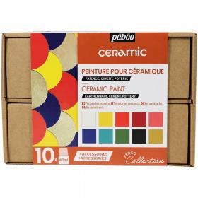 Coffret Ceramic - Peinture porcelaine 10x45 ml - pébéo - Em création
