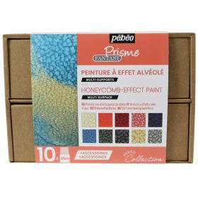 Coffret peinture à effet alvéolé 10x45 ml - pébéo - Em création