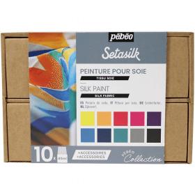 Coffret peinture sur soie 10x45 ml - pébéo - collection - Em création