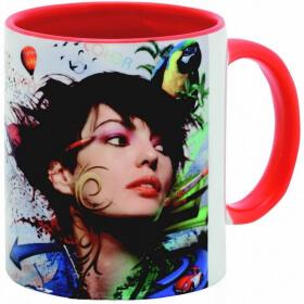 Mug personnalisé rouge - Em création