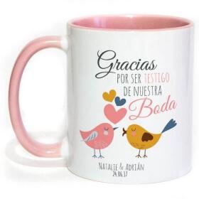 Mug personnalisé rose - Em création