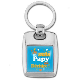Porte clés papy qui déchire - Idée cadeau papy - Anniversaire - Em création