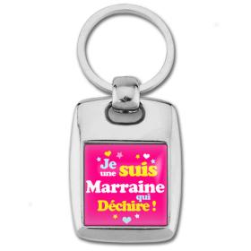 Porte clés marraine qui déchire - Idée cadeau marraine - Anniversaire