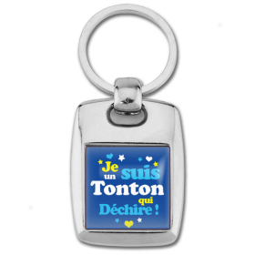 Porte clés tonton qui déchire - Idée cadeau tonton - Anniversaire - Em création