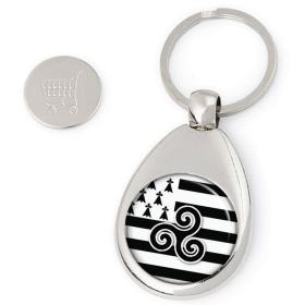 Porte clés jeton de caddie bretagne - idée cadeau bretagne - Em création