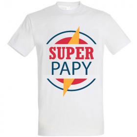 Tee shirt Super Papy - Idée cadeau Papy - Em création