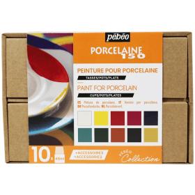 Peinture pour porcelaine 10 x 45ml - Pébéo - Em Création - Em création