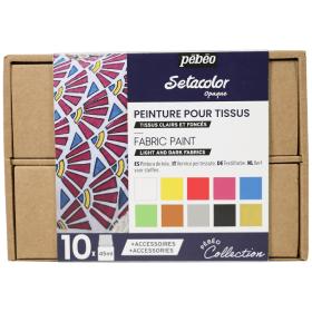 Peinture tissus clairs et foncés opaque 10 x 45 ml - Pébéo - Em Création - Em création
