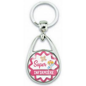 Porte clef Super Infirmière - Idée cadeau infirmière - Em création