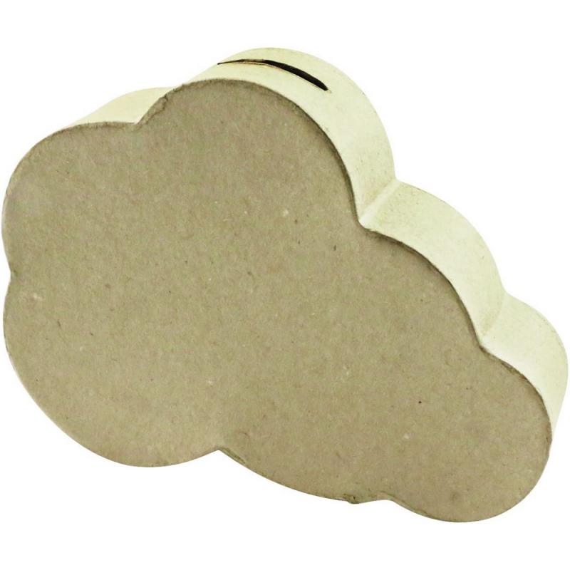 Nuage décopatch - Tirelire à décorer - Décopatch
