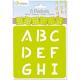 Pochoirs Alphabet x6