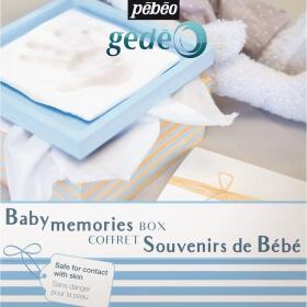 Coffret Souvenir empreintes de Bébé pour Garçon-pébéo - Em création