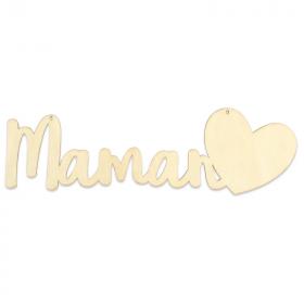 Suspension Maman à décorer - A peindre - Em création