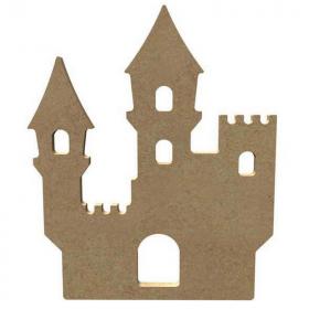 Château en bois à décorer - Silhouette à peindre - Gomille